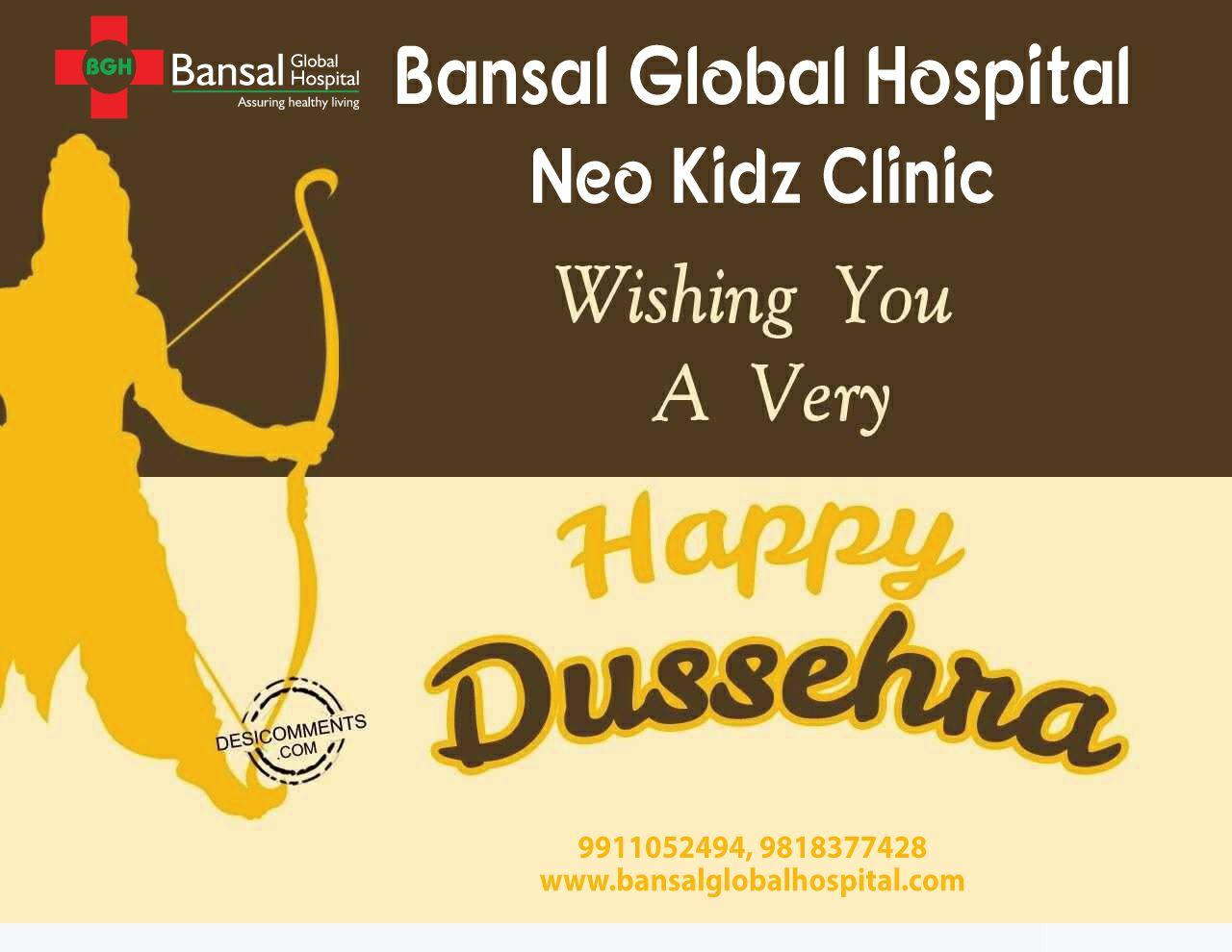 Bansal Global Hospital Neo Kidz Clinic Happy Dussehra