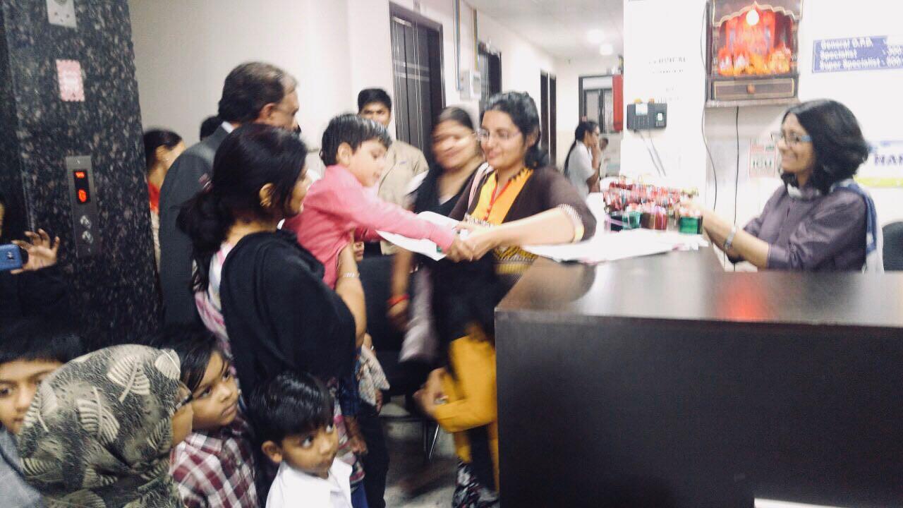 Children's Day celebration at Bansal Global Hospital in Pitampura